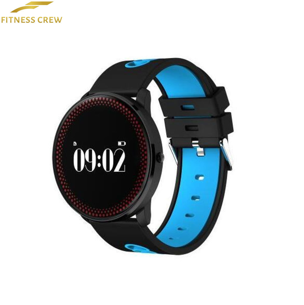 Fitness Bracelet Watch With Heart Rate Monitor And Weather Forecast Reminder Blue