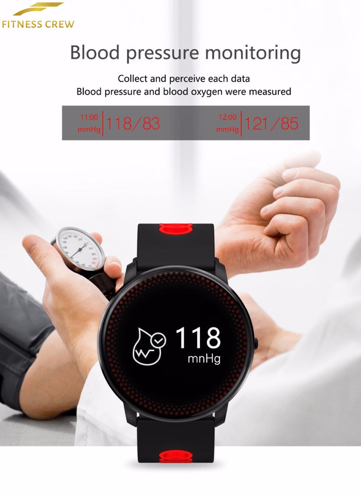 Fitness Bracelet Watch With Heart Rate Monitor And Weather Forecast Reminder