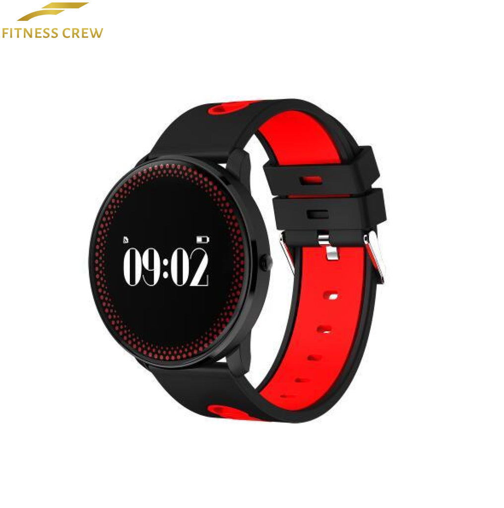 Fitness Bracelet Watch With Heart Rate Monitor And Weather Forecast Reminder Red