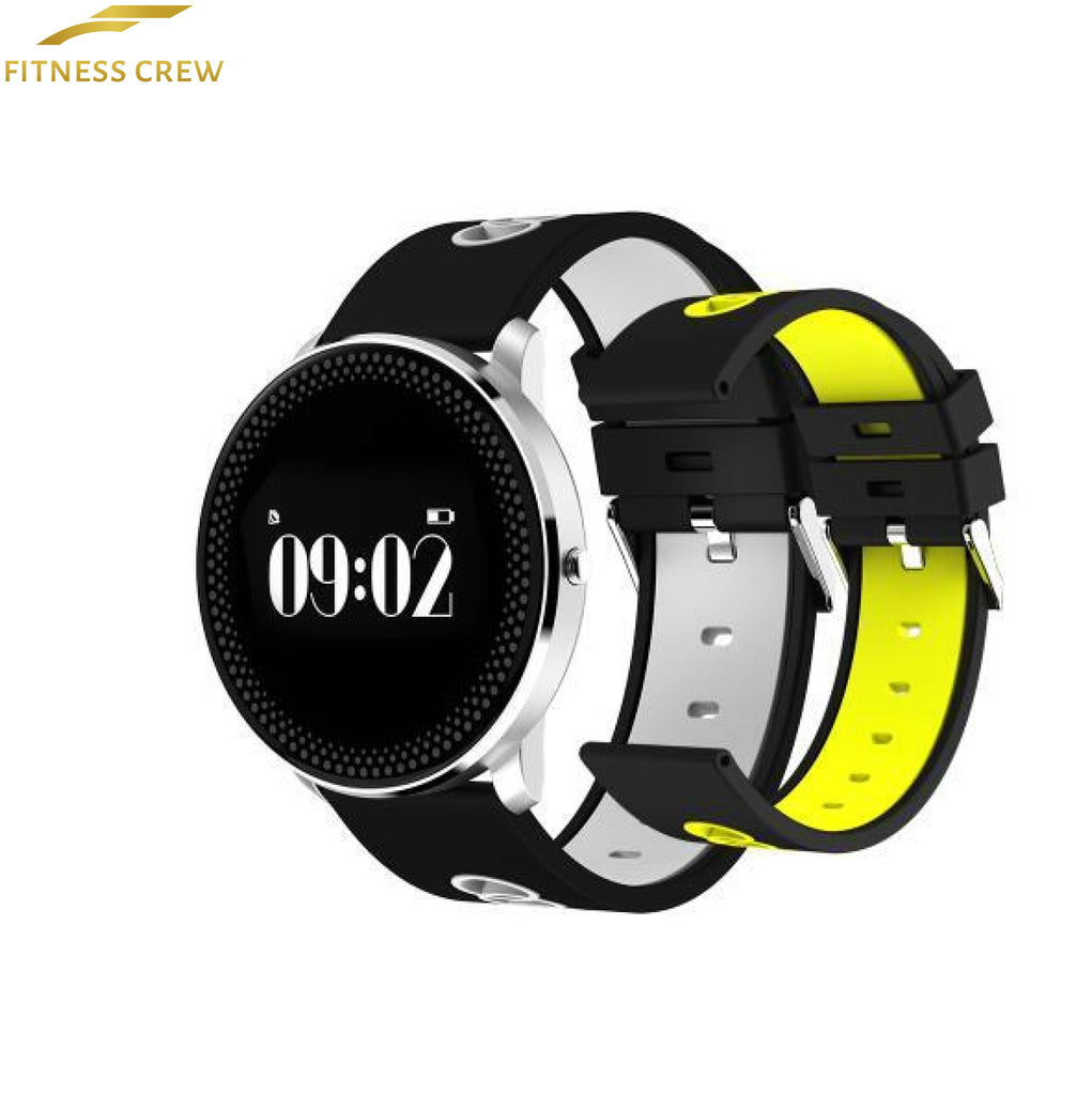Fitness Bracelet Watch With Heart Rate Monitor And Weather Forecast Reminder White Yellow