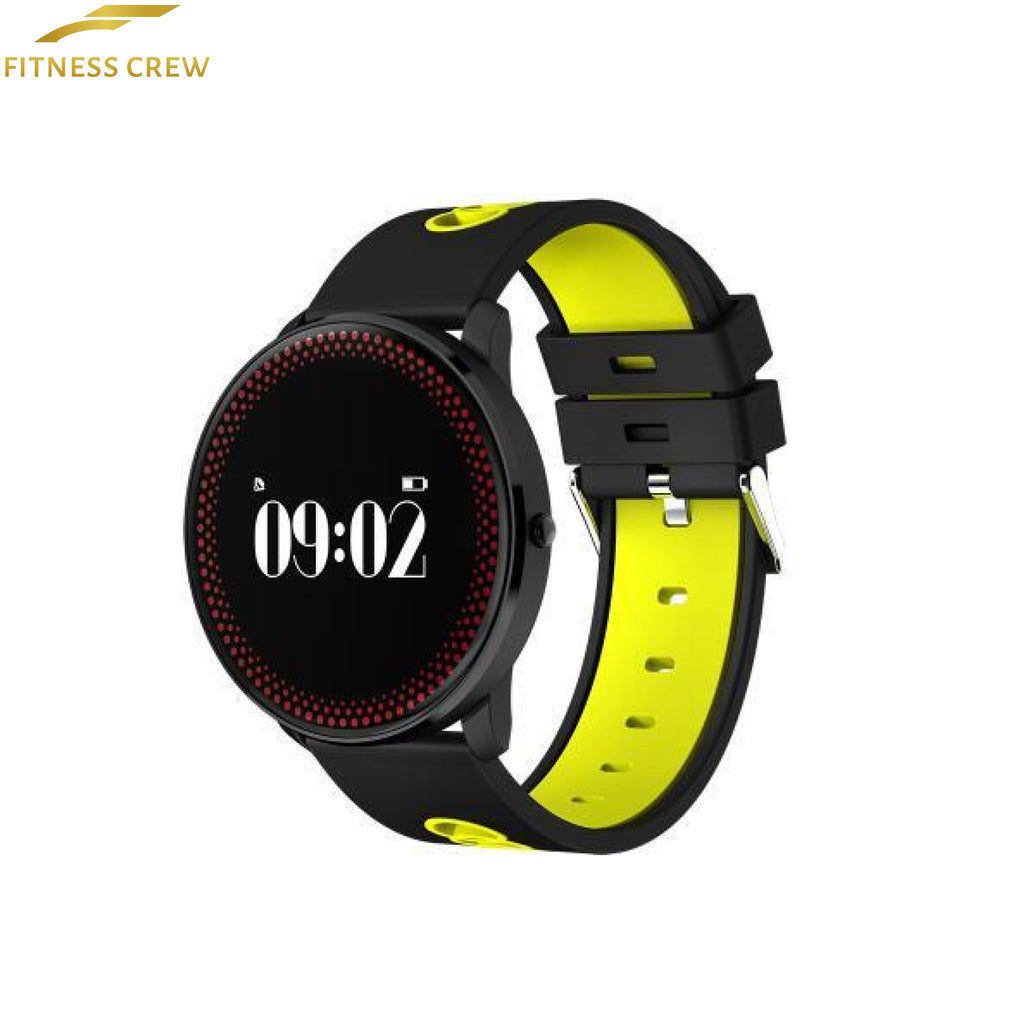 Fitness Bracelet Watch With Heart Rate Monitor And Weather Forecast Reminder Yellow