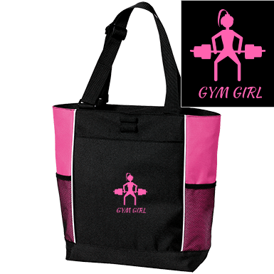 Gym girl Port Authority Colorblock Zipper Tote Bag