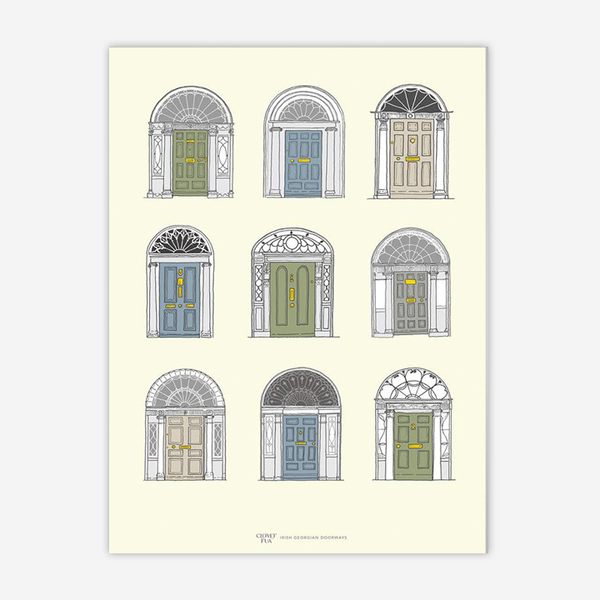 Irish Georgian Doorways by Clover Rua