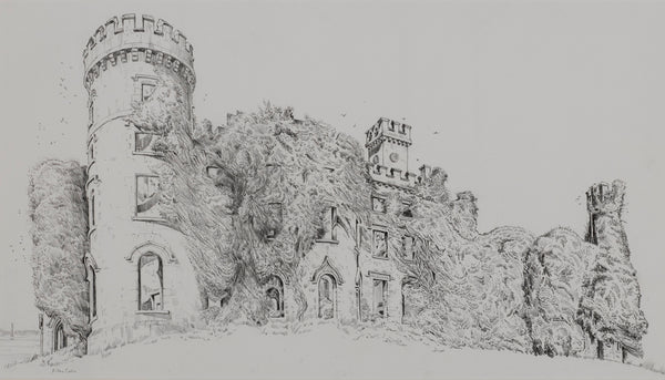 Killua Castle, Co. Westmeath (ivy clad) by John Nankivell