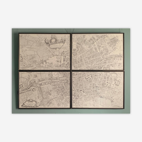 Roque's Map of Dublin (1756) - Set of 4