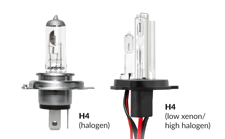 H4 Low Xenon/High Halogen bulbs