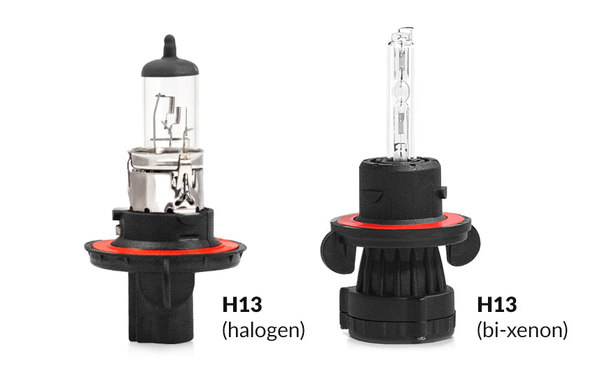 H13 Bi-Xenon bulbs and dual beam halogen