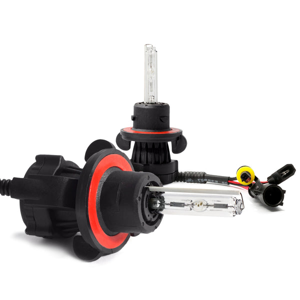 HID H13 Replacement bulbs. HQ super bright xenon bulbs to upgrade your vehicle