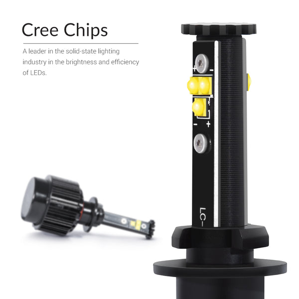 Bright Cree chips made in the USA. 6000K light output