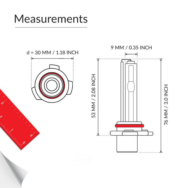 Low beam 9006 bulb measurements