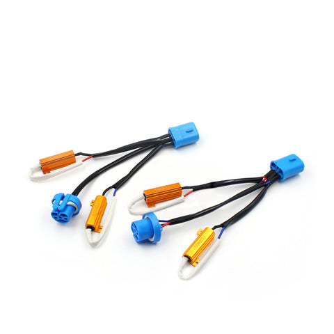 Bi-Xenon HID/ Dual Beam LED 9007 Anti-Flicker Decoder Resistors Adaptors