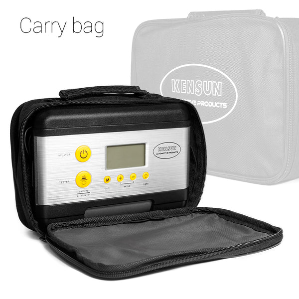 Our compressor model K comes with convenient carry bag