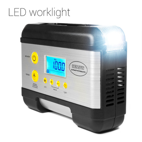 LED worklight helps use the compressor even in the depth of the night