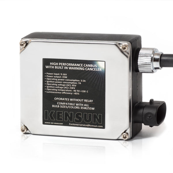 Kensun HQ 35W single canbus ballast provides safety and better operation of the HID kits