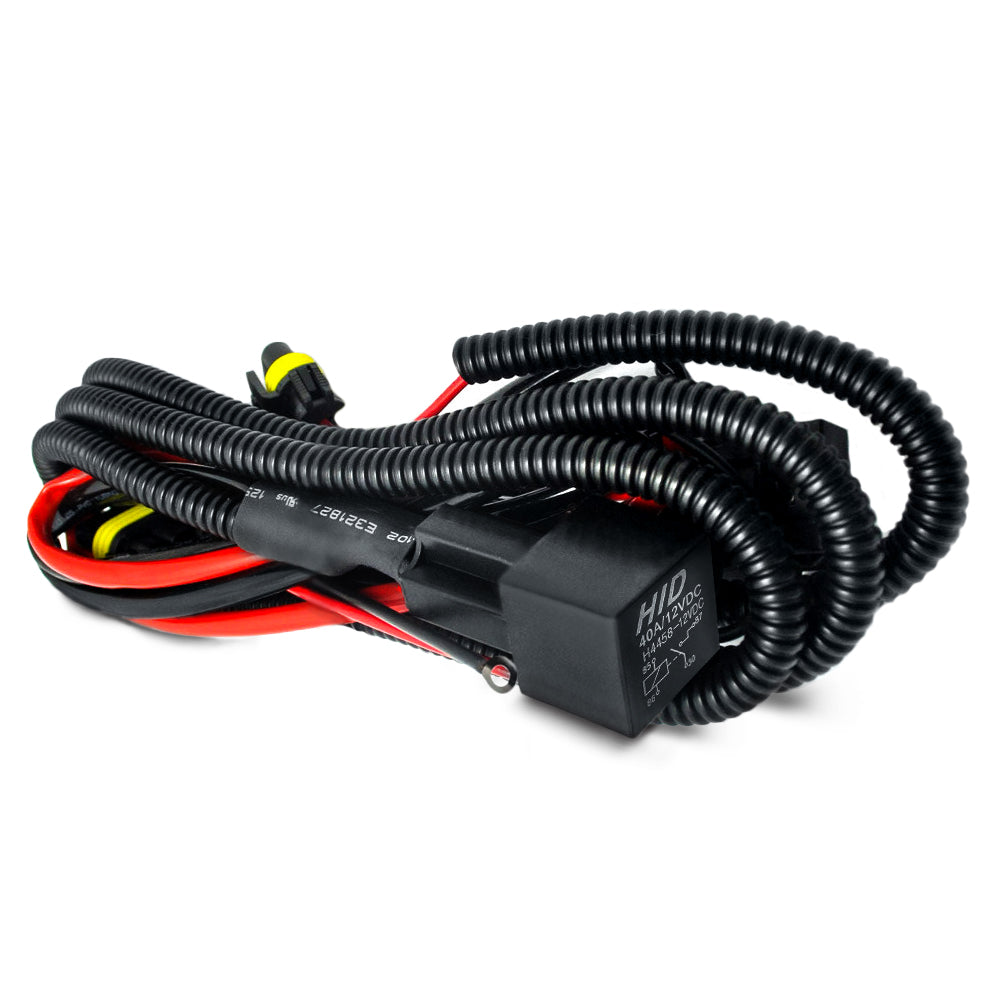 Universal Single Beam Relay Wiring Harness on 9007 hid installation guide, 9007 hid plug, 9007 hid lights,