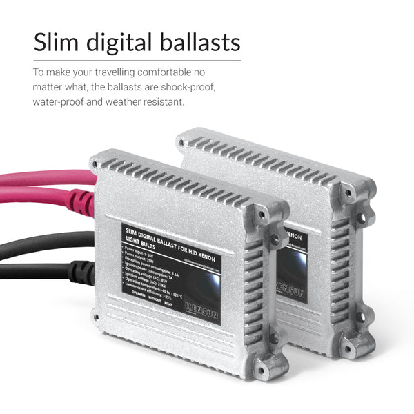 Slim digital Xenon ballasts come with the 9007 HID 35w kit