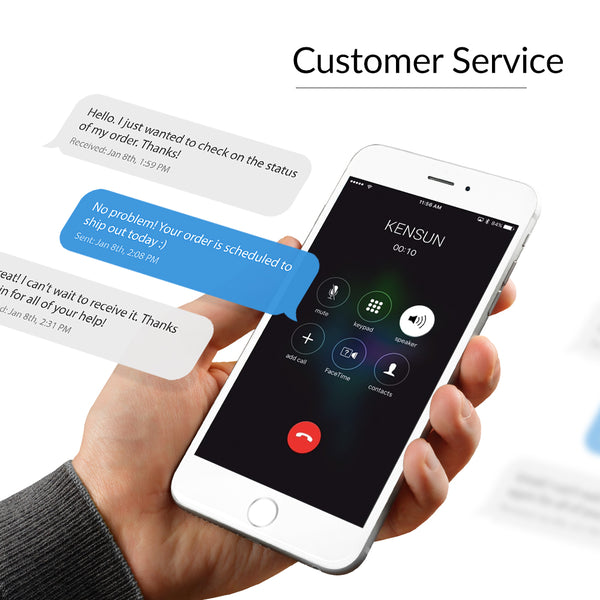 Excellent Kensun customer service in various support channels including email, phone and Facebook