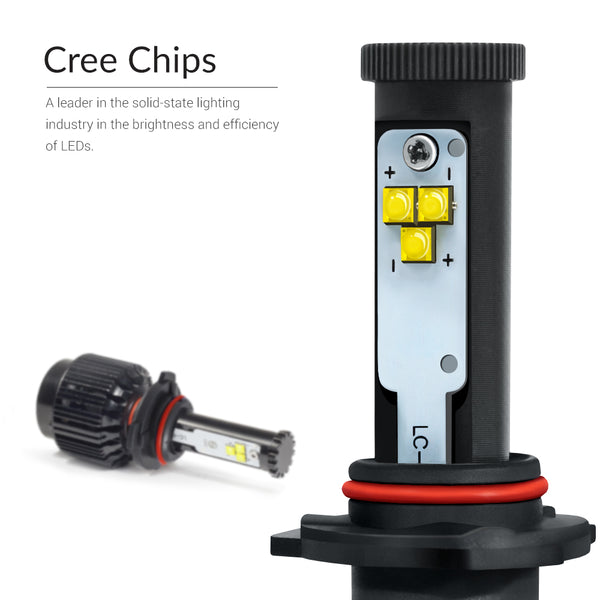 Bright 6000K LED Cree Chips for real visibility