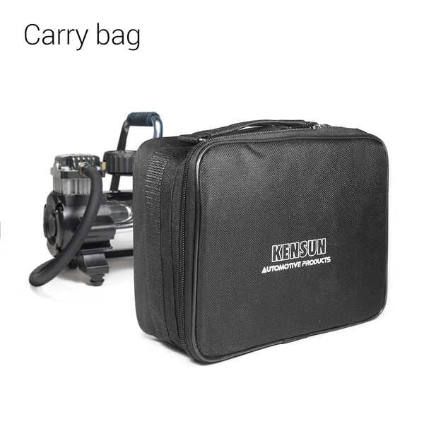 12V tire inflator with carry case