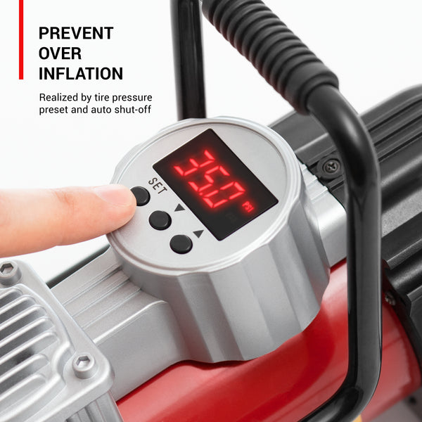 An air pump for inflatables with convenient carry handle