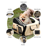 Pet car seat booster for safe and comfortable traveling