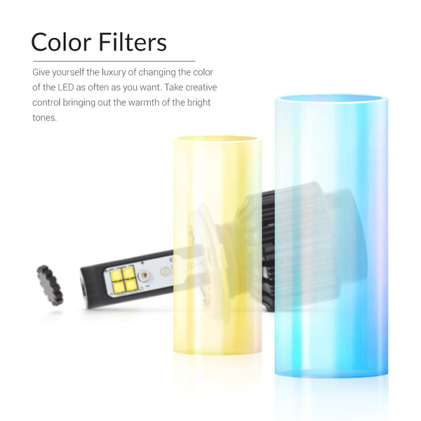 Try LED Glass filters to get 7500-8000K or 4300K light