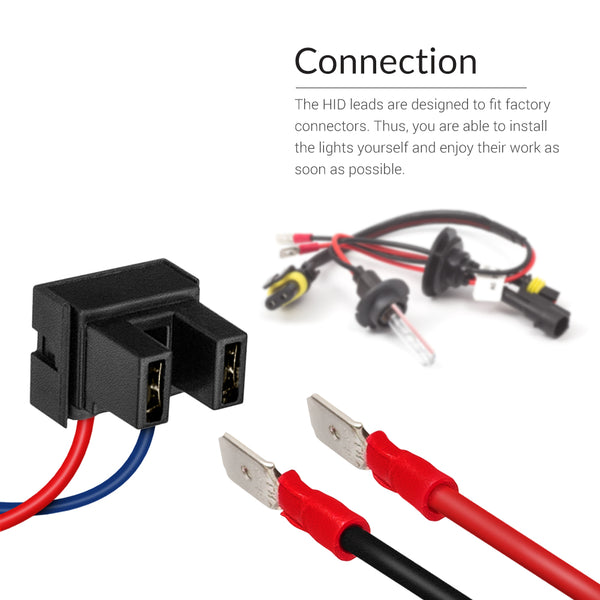 Easy to install conversion kit with negative and positive wires