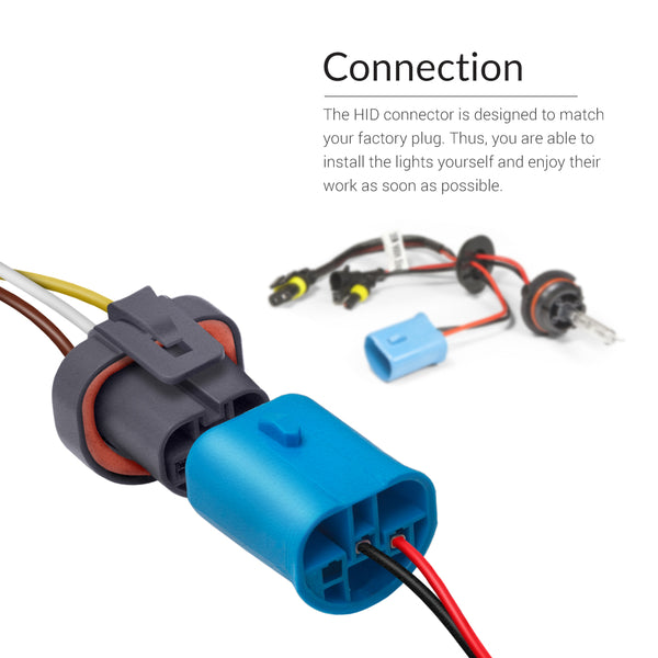 Plug and play connector of 9007 size to your vehicle