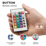 Kensun led lights for car interior with button remote control