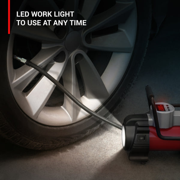 Air pump with LED worklight