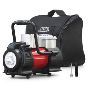 Portable air compressor to inflate tires