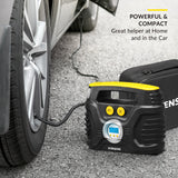Portable Tire Inflator with Digital Display │ for Car 12V DC and Home 110V AC │ 30 Litres/Min; Max: 100 PSI