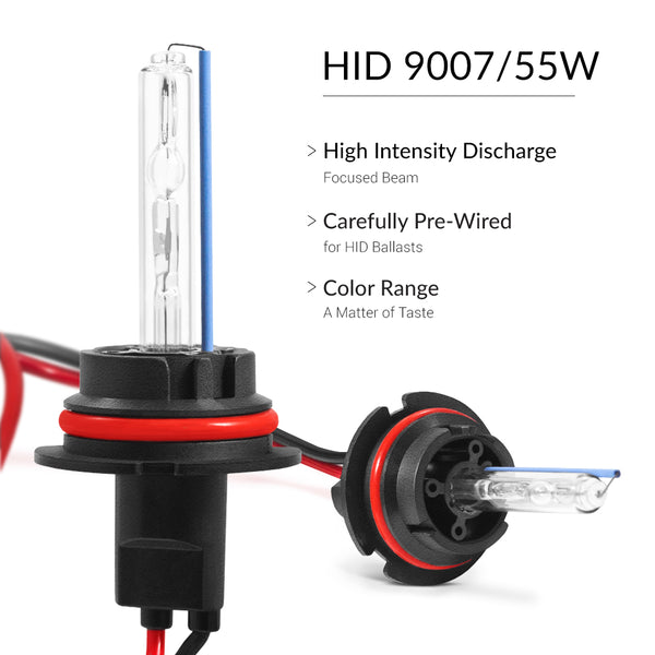 55W 9007 lights for maximum brightness