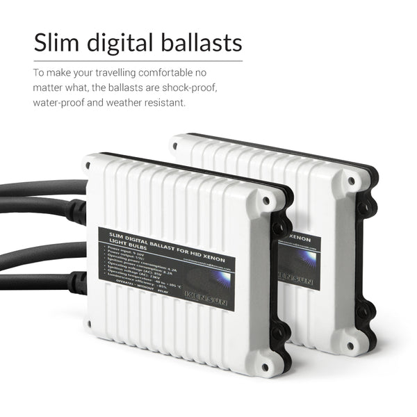 New 55W ballasts for even light output and great luminosity