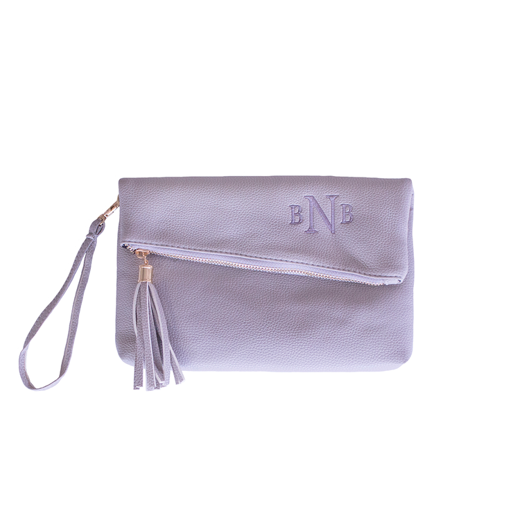 Monogrammed Vegan Leather Asymmetrical Crossbody