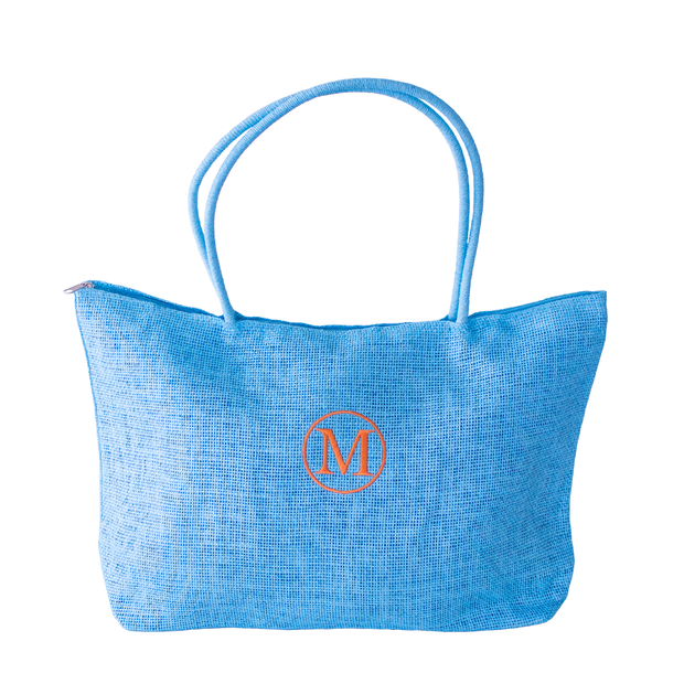 Monogrammed Fully Lined Burlap Tote Bag - 9 colors