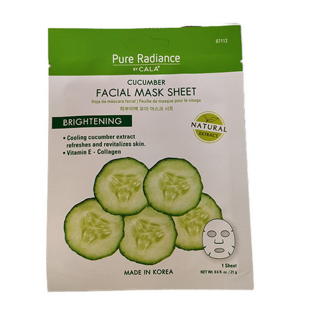 Pure Radiance by CALA Cucumber Facial Mask Sheet, June's Hallmark, Little Box of Happy