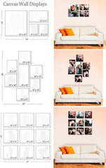 picture frame montage sizes