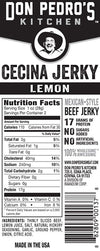 Nutritional Facts - Mexi Cecina Beef Jerky Carne Seca 2oz Single Pack Lemon Flavor