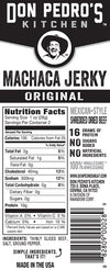 Nutritional Facts - Mexi Machaca Beef Jerky Carne Seca 2oz Single Pack