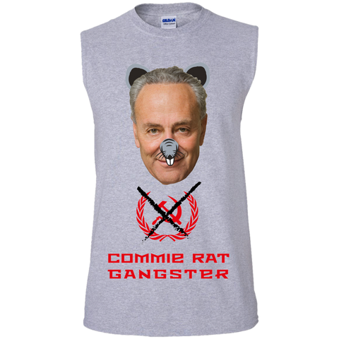Commie Rat Gangster - Chuck E. Schumer - Sleeveless T-Shirt