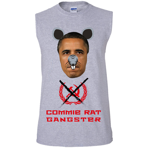 Commie Rat Gangster - Barack Obama - Sleeveless T-Shirt