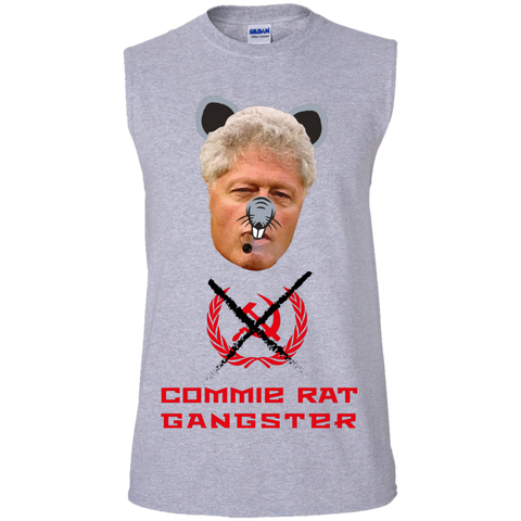Commie Rat Gangster - Bill Clinton - Sleeveless T-Shirt