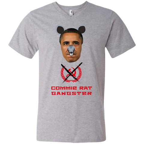 Commie Rat Gangster - Barack Obama - V-Neck T-Shirt