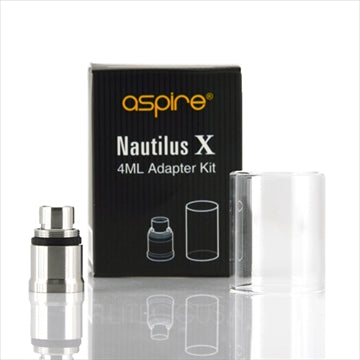 Aspire Nautilus X Replacement Glass + Adapter Kit (Clear 4mL) - Vapeluv