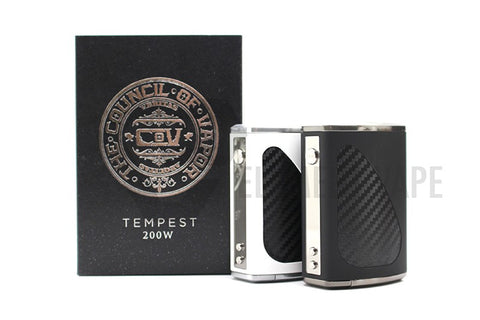 Council of Vapor - Tempest 200W TC Box Mod - Mister Vapor