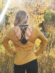 Kelsie Top in Mustard