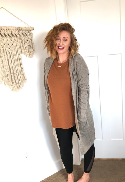 Hooded Cardigan with Pockets (2 colors Available)