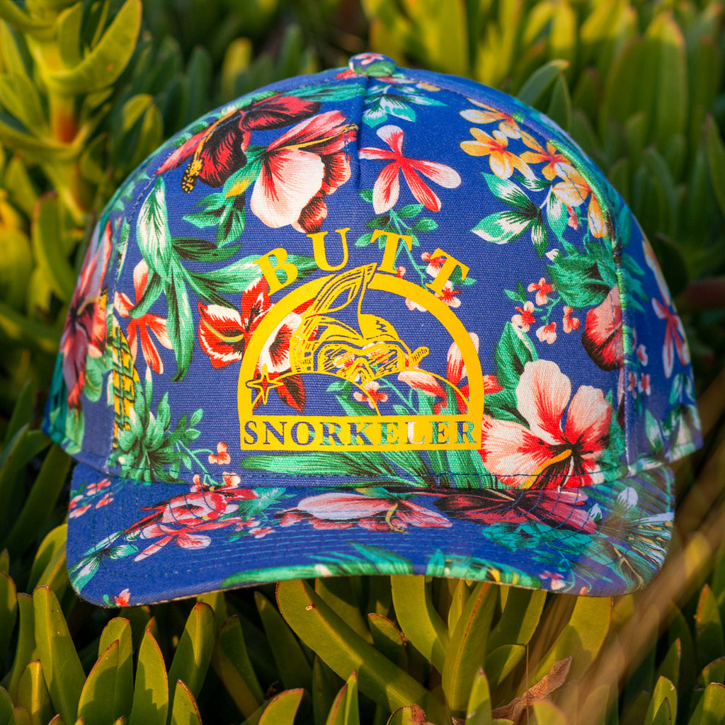 #AssOnTheGlass Snapback - Full Fabric Blue Hawaiian