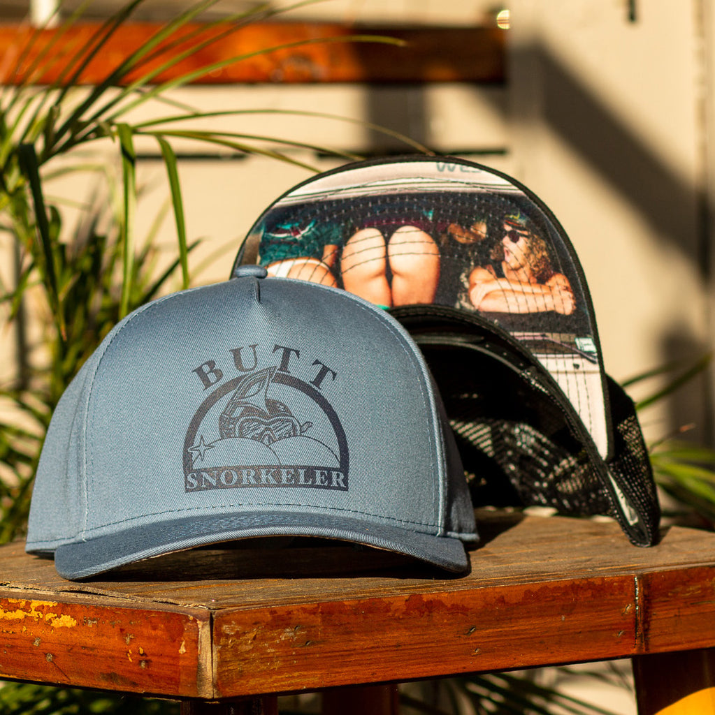 #AssOnTheGlass Snapback - Blue Slate